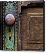 Old Door Knob Canvas Print by Joanne Coyle