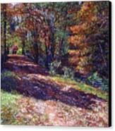 Old Farmhouse Road Canvas Print by David Lloyd Glover