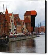 Old Gdansk Port Poland Canvas Print by Sophie Vigneault