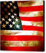 Old Glory Patriot Flag Canvas Print by Phill Petrovic