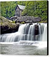 Old Grist Mill In Babcock State Park West Virginia Canvas Print by Brendan Reals