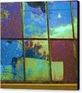 Old Lace Factory Window Canvas Print by Don Struke