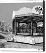 Old Mesilla Plaza And Gazebo Canvas Print by Jack Pumphrey