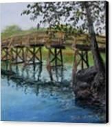 Old North Bridge In Pastel Canvas Print by Jack Skinner