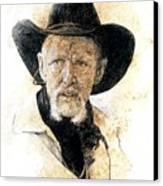Old Rider Canvas Print by Debra Jones