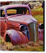 Old Rusty Car Bodie Ghost Town Canvas Print by Garry Gay