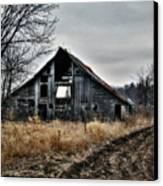 Old Shed Left By Itself Canvas Print by Laurie With
