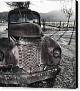 Old Truck In Napa Valley Canvas Print by George Oze
