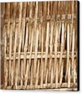 Old Wall Made From Bamboo Slats Canvas Print by Yali Shi