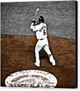 Omar Quintanilla Pro Baseball Player Canvas Print by Marilyn Hunt