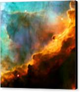 Omega Swan Nebula 3 Canvas Print by The  Vault - Jennifer Rondinelli Reilly