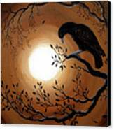Ominous Bird Of Yore Canvas Print by Laura Iverson