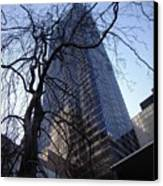 On A Clear Day...moma Courtyard Ny City Canvas Print by Arthur Miller