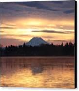 On American Lake  Canvas Print by C E Dyer