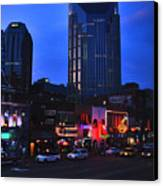 On Broadway In Nashville Canvas Print by Susanne Van Hulst
