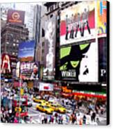 On Broadway New York Canvas Print by Rosie Brown