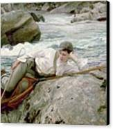 On His Holidays Canvas Print by John Singer Sargent