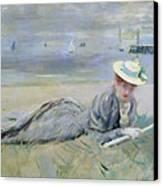 On The Beach  Canvas Print by Paul Cesar Helleu