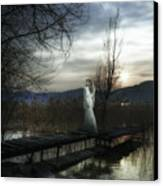 On The Bridge Canvas Print by Joana Kruse