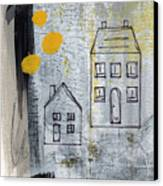 On The Same Street Canvas Print by Linda Woods