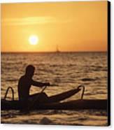 One Man Canoe Canvas Print by Sri Maiava Rusden - Printscapes