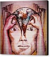 Open Mind For A New World Canvas Print by Paulo Zerbato