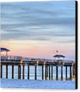 Orange Beach Pier Canvas Print by JC Findley