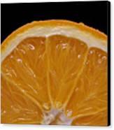 Orange Sunrise On Black Canvas Print by Laura Mountainspring