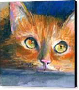 Orange Tubby Cat Painting Canvas Print by Svetlana Novikova