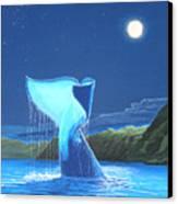 Orca Fluke Canvas Print by Jeffrey Oldham