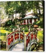 Orient - Bridge - The Bridge To The Temple  Canvas Print by Mike Savad