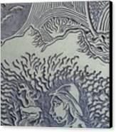 Original Linoleum Block Print Canvas Print by Thor Senior