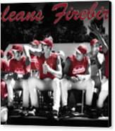 Orleans Firebirds Baseball Team Canvas Print by Dapixara Art