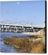 Ormond Beach Bridge Canvas Print by Deborah Benoit