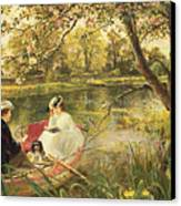 Our Holiday Canvas Print by Charles James Lewis