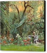 Our Little Garden Canvas Print by Guido Borelli