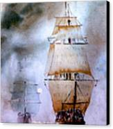Out Of The Mist Canvas Print by Steven Ponsford