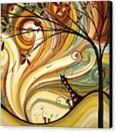 Out West Original Madart Painting Canvas Print by Megan Duncanson