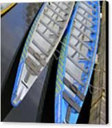 Outrigger Canoe Boats Canvas Print by Ben and Raisa Gertsberg