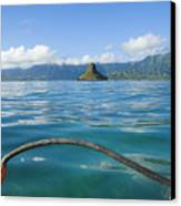 Outrigger On Ocean Canvas Print by Dana Edmunds - Printscapes