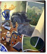 Over The Edge Canvas Print by Jeanne Newton Schoborg