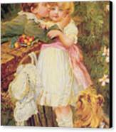 Over The Garden Wall Canvas Print by Frederick Morgan