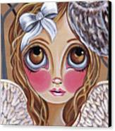 Owl Angel Canvas Print by Jaz Higgins