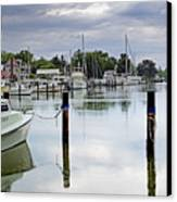 Oxford City Dock Eastern Shore Of Maryland Canvas Print by Brendan Reals