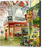Oxford's Covered Market Canvas Print by Mike Lester