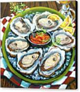 Oysters On The Half Shell Canvas Print by Dianne Parks