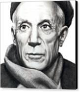 Pablo Picasso Canvas Print by Murphy Elliott
