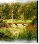 Paint In The Park Canvas Print by Jim  Darnall