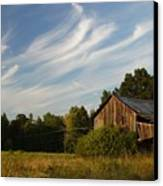 Painted Sky Barn Canvas Print by Benanne Stiens