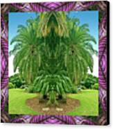 Palm Tree Ally Canvas Print by Bell And Todd
